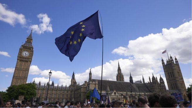 Manifestacion contra el Brexit en el Parlamento de Londres