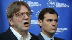 Guy Verhofstadt con su socio español, Albert Rivera. (ALDE)