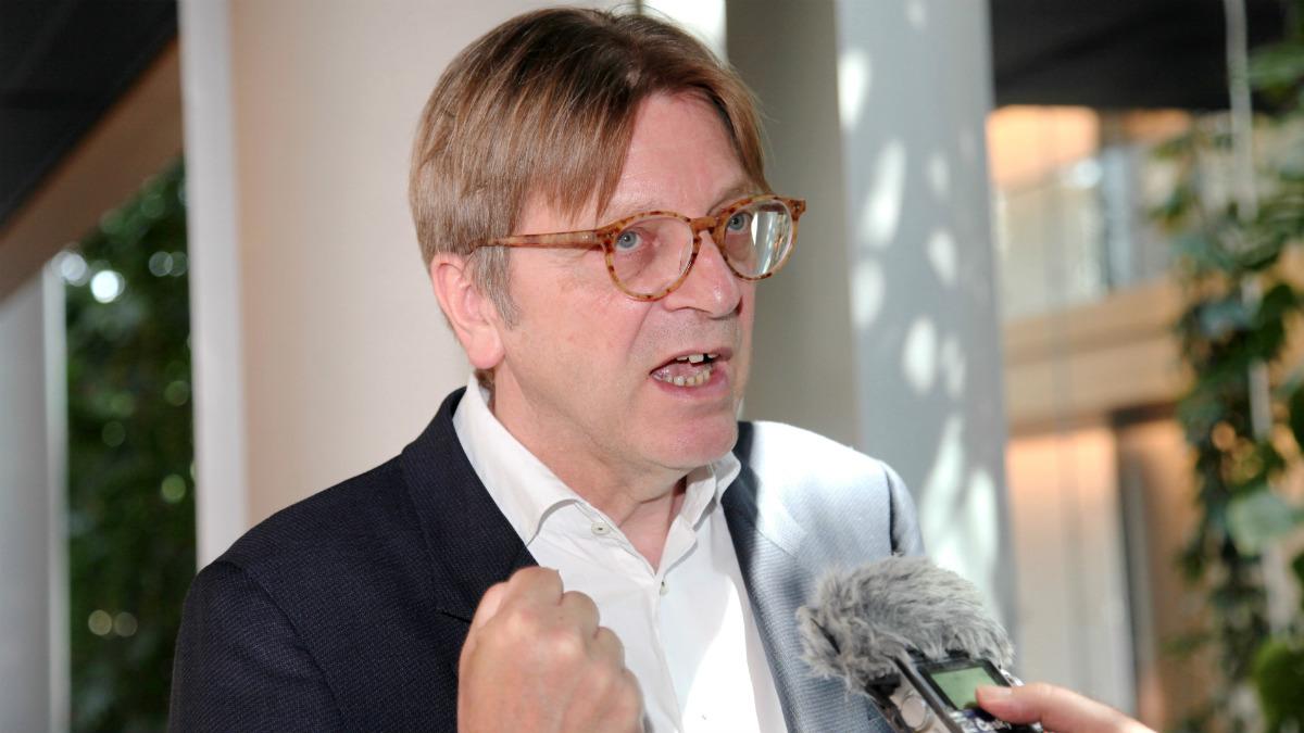 Guy Verhofstadt, portavoz de los Liberal-Demócratas en el Parlamento Europeo. (ALDE)