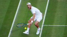 Feliciano López, en un partido de Wimbledon. (Getty)