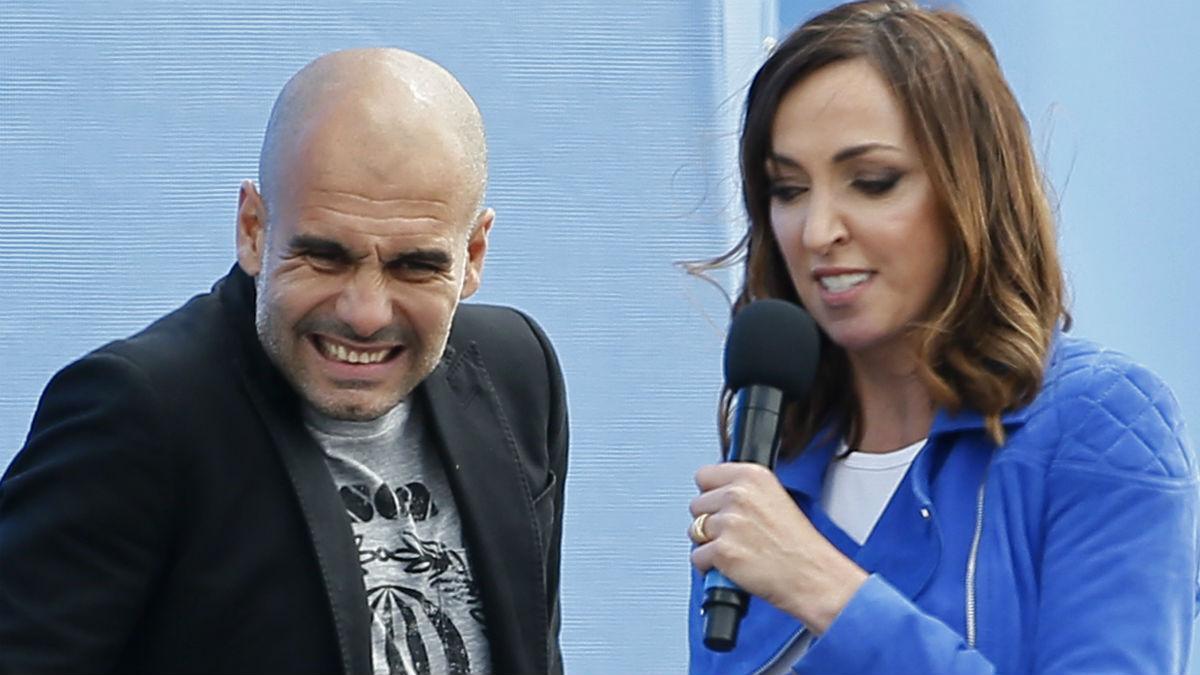 Pep Guardiola, en su presentación en el CIty. (Reuters)