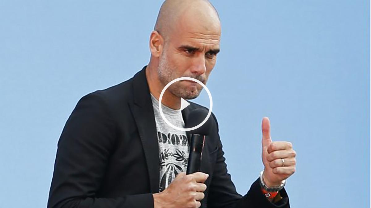 Guardiola fue presentado como nuevo entrenador del Manchester City. (Reuters)
