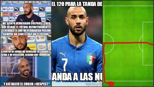 Los memes se ceban con el ridículo penalti de Zaza