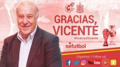 Vicente del Bosque deja de ser seleccionador español. (Twitter RFEF)