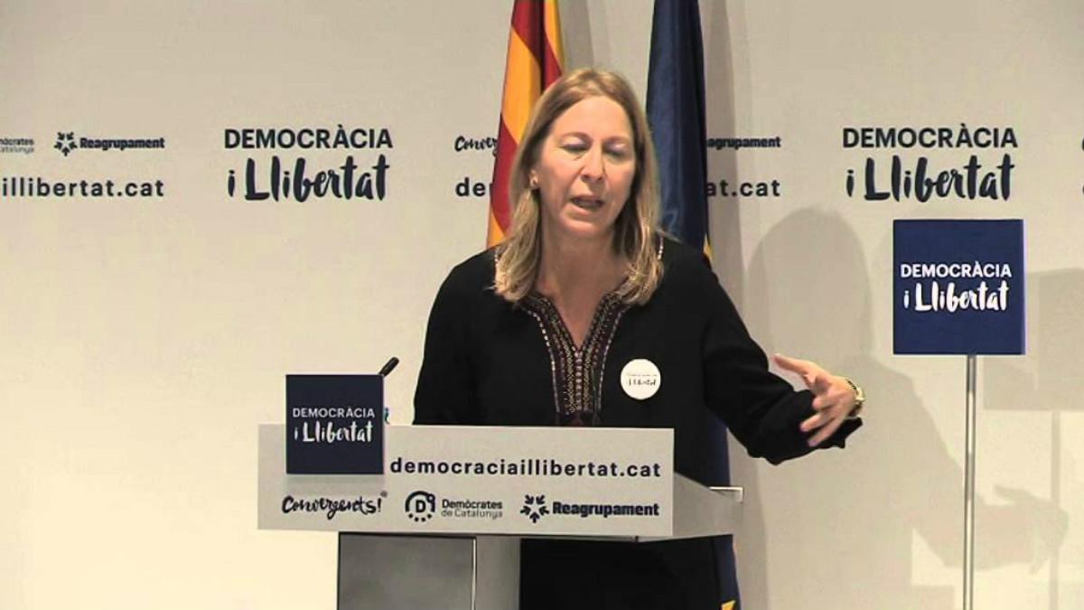 La portavoz del Govern catalán, Neus Munté. (Foto: Efe).