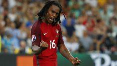 Renato Sanches celebra su gol ante Polonia. (Reuters)
