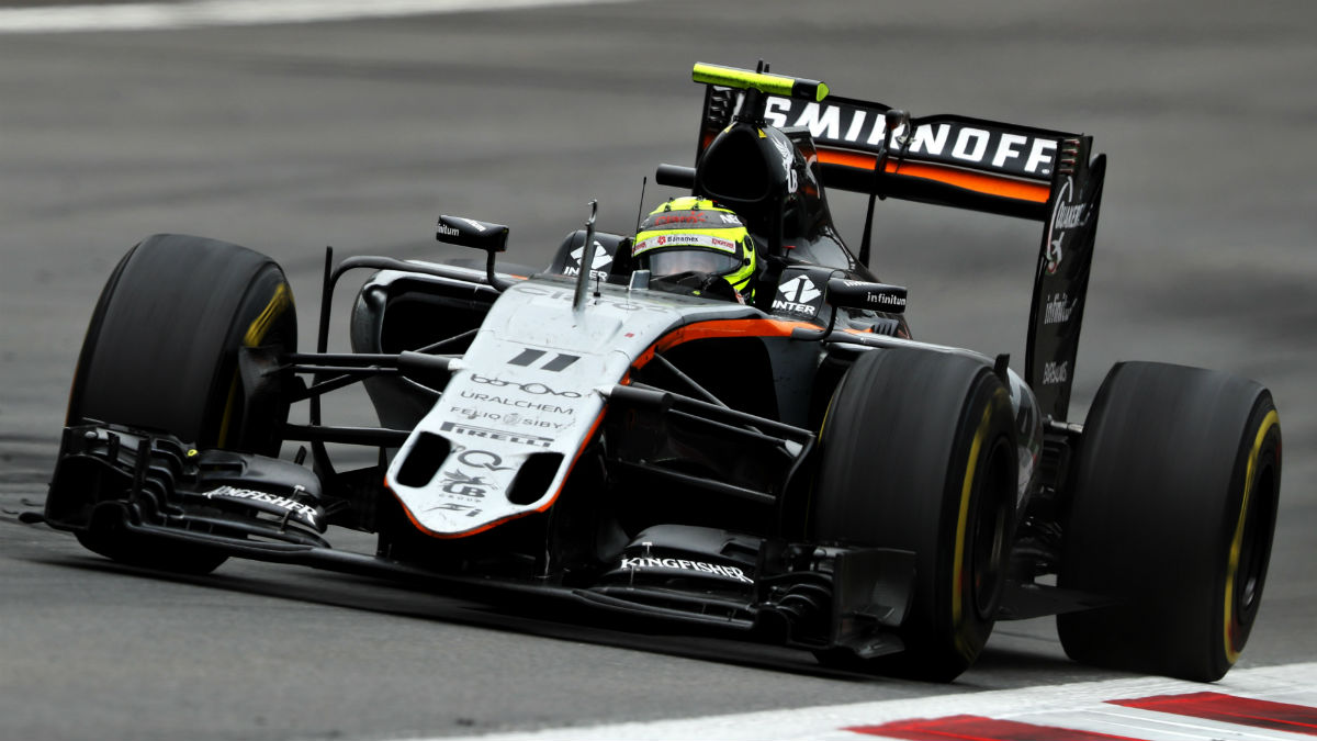 Force India no pudo informar a Pérez acerca de sus problemas de frenos, lo que acabó provocando el accidente del mexicano. (Getty)