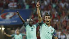 Cristiano Ronaldo celebra el primer gol del partido. (Reuters)