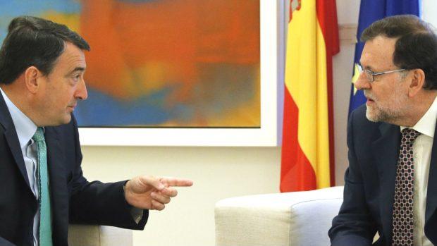 Mariano Rajoy y Aitor Esteban