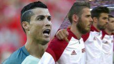 Cristiano Ronaldo patriótico contra el pasotismo de Gerard Piqué.