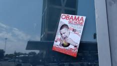 Pegatina de 'Obama Go Home» en Madrid. (Foto: OKDIARIO)