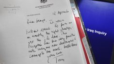 Carta de Tony Blair a George W. Bush. (Foto: AFP)
