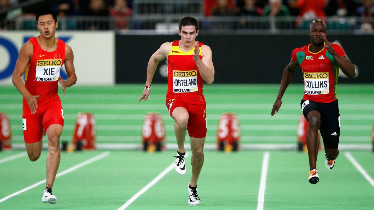Bruno Hortelano, plusmarquista español de 100 metros lisos. (AFP)