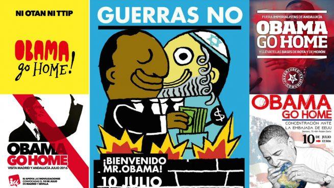 IU promociona con carteles antisemitas el boicot a la visita de Obama a España