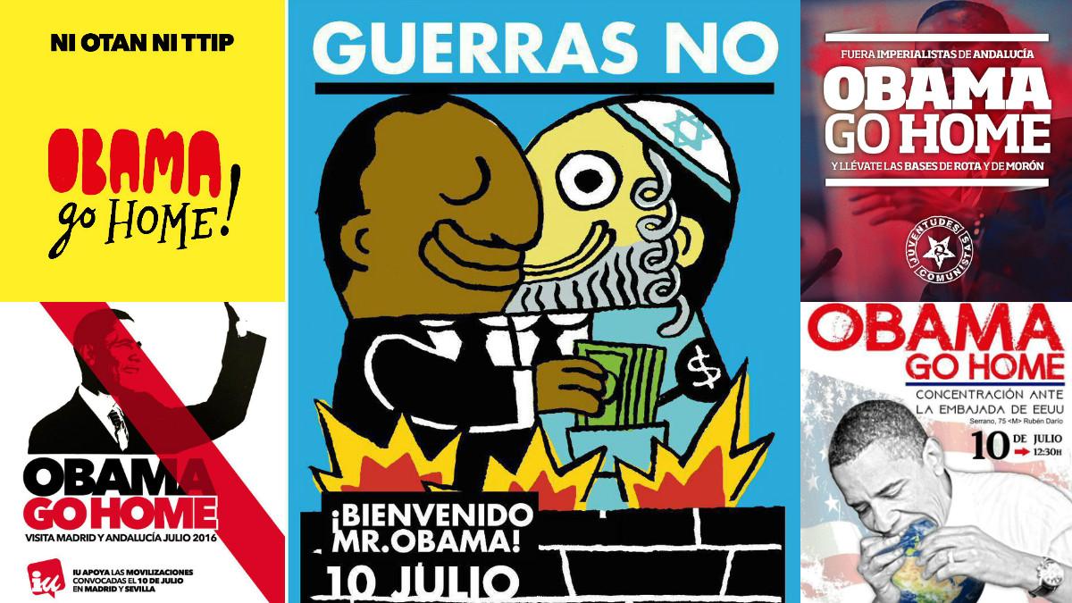 Cartel antisemita impulsado por IU Madrid. (Fotos: TW)