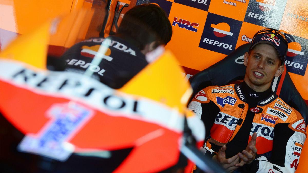 Casey Stoner, en su etapa como piloto de Honda. (AFP)