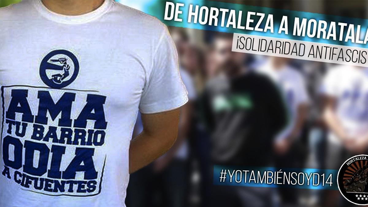 Camiseta de D14 que incita un delito de odio contra la presidenta Cifuentes. (Foto: TW)