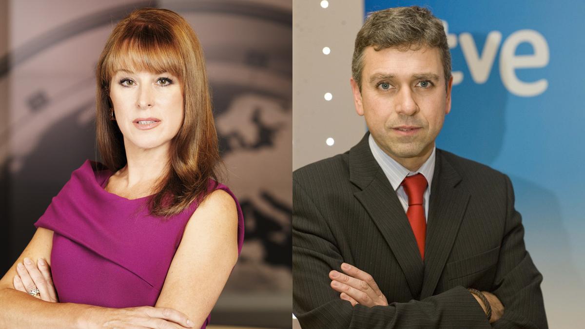 Gloria Lomana y Santiago González. (Fotos: Antena 3/TVE)