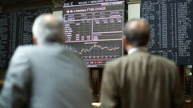 Imágenes de la bolsa de Madrid (Foto: Getty)
