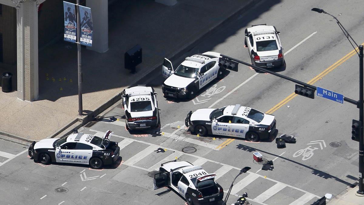 Policía en el lugar de la matanza en Dallas (Foto: Reuters)