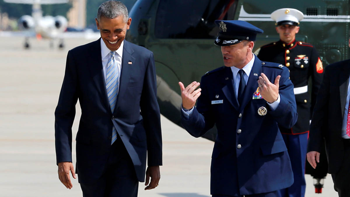 Barack Obama a su llegada esta semana a Polonia (Foto: Reuters)