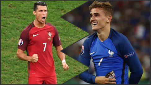 Cristiano y Griezmann se verán las caras en París. (Reuters)