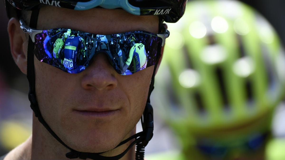 Chris Froome sonríe tras dar un golpe de autoridad en el Tour y desbancar a Contador. (Getty)