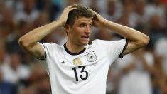 Müller lamenta una ocasión fallada durante la Eurocopa. (Reuters)