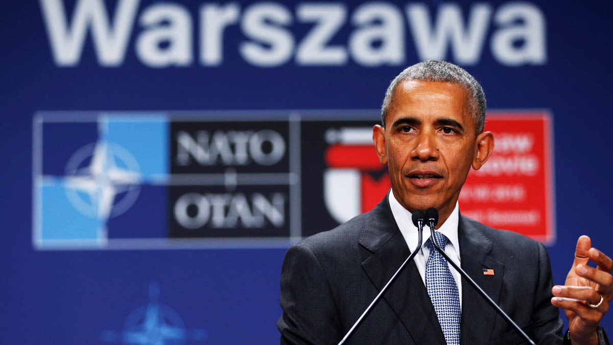 Barack Obama durante la cumbre de la OTAN en Varsovia (Foto: Reuters)