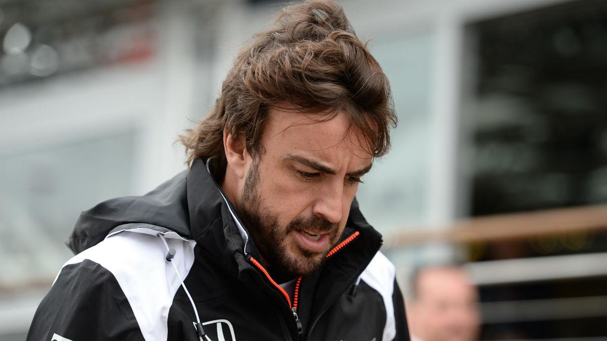 Fernando Alonso, en el GP de Gran Bretaña. (AFP)