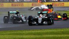 Hamilton se llevó el GP de Gran Bretaña por delante de Rosberg y Verstappen (Getty)
