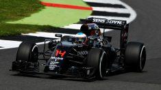 Fernando Alonso firmó una sorprendente segunda vuelta rápida durante el Gran Premio de Gran Bretaña. (Getty)