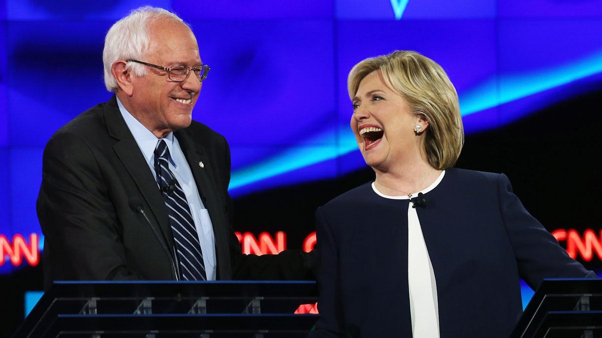 Bernie Sanders y Hillary Clinton (Foto: Getty)