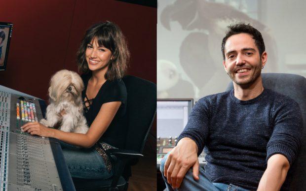 La actriz Úrsula Corberó, con su perrita Lolita, y el cómico David Guapo prestan su voz (y sus ladridos) a los protagonistas de Mascotas.