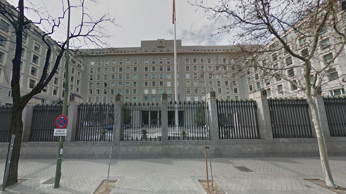 Ministerio de Defensa (Foto: GOOGLE STREET VIEW).