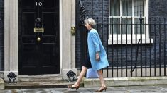 Theresa May en el 10 de Downing Street. (Foto: AFP)