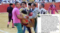 Mensaje de Vicent Belenguer sobre Víctor Barrio. (Foto: EFE)