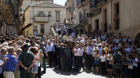 El mundo del toro ha arropado a los allegados de Víctor Barrio. (Foto: EFE)