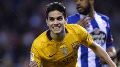 Marc Bartra celebra un gol contra el Deportivo. (AFP)