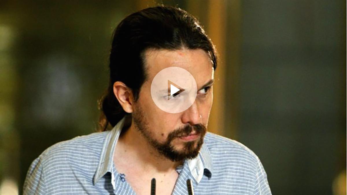 Pablo Iglesias comparece ante los medios tras reunirse con Mariano Rajoy en el Congreso. (EFE)