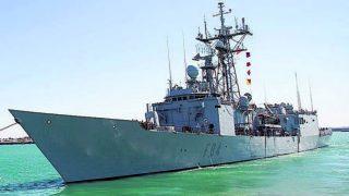 La fragata Reina Sofía, de la Armada española, integrada en la 'operación Sophia' de rescate de migrantes en el Mediterráneo.