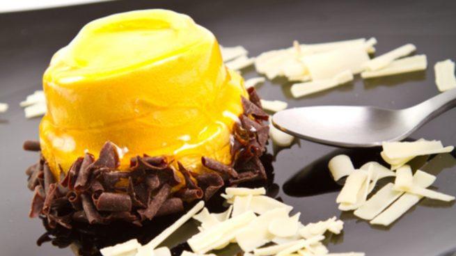 Crema de mango y chocolate