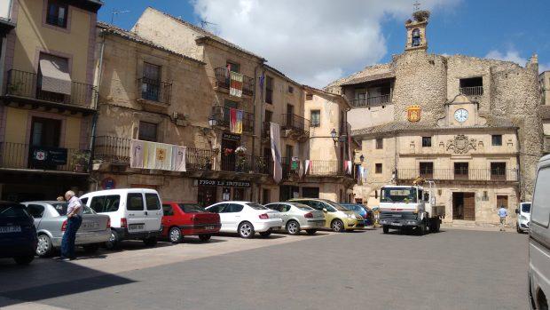 La Plaza de España de Sepúlveda. (Foto: OKDIARIO)