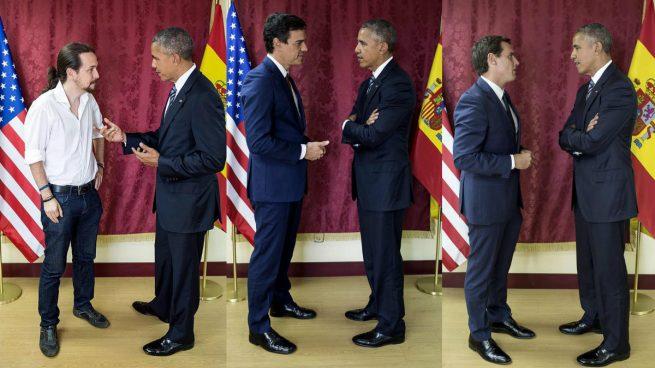 Resultat d'imatges de pedro sánchez obama