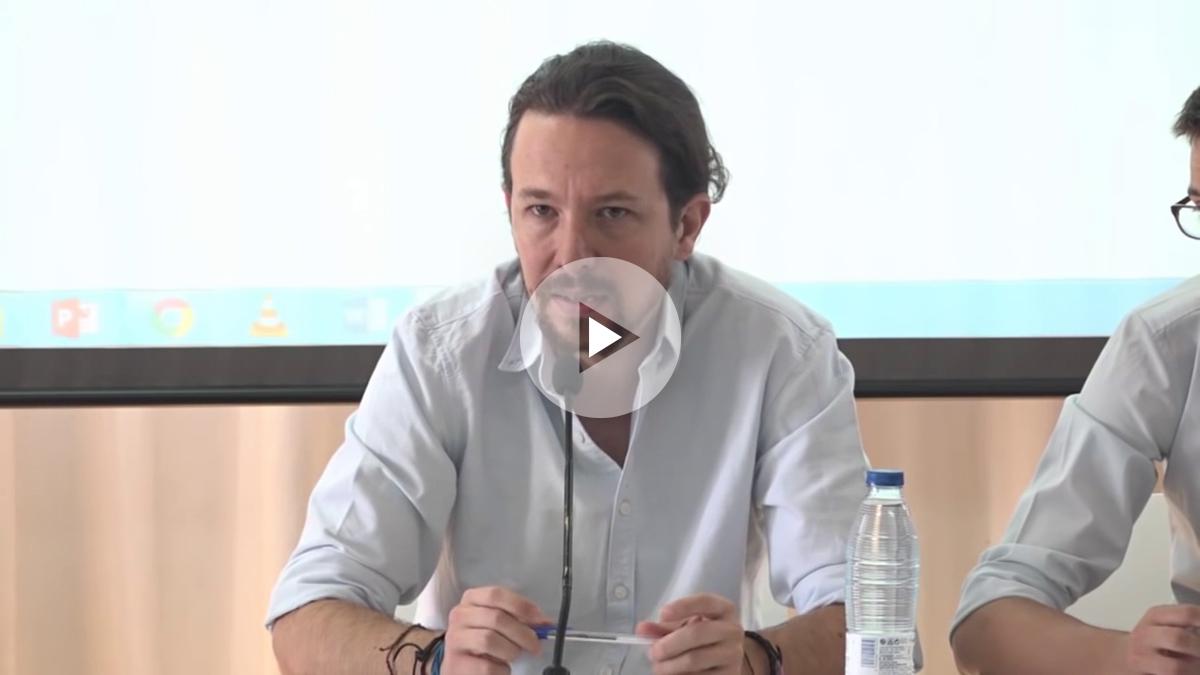 Pablo Iglesias, durante su intervención del día 9 ante el Consejo Ciudadano de Podemos