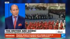 Un debate sobre el Brexit en France24, mientras 30 personas habían muerto en un atropello masivo en Niza.