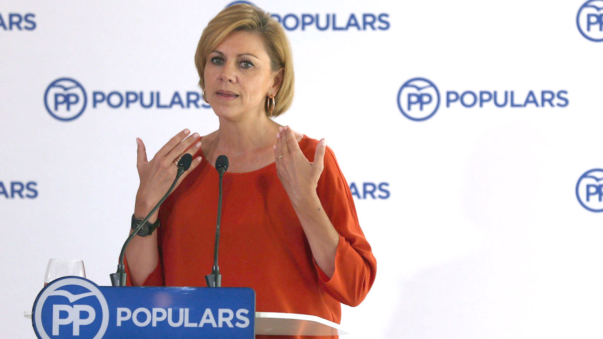 La secretaria general del PP, María Dolores de Cospedal (Foto: Efe)