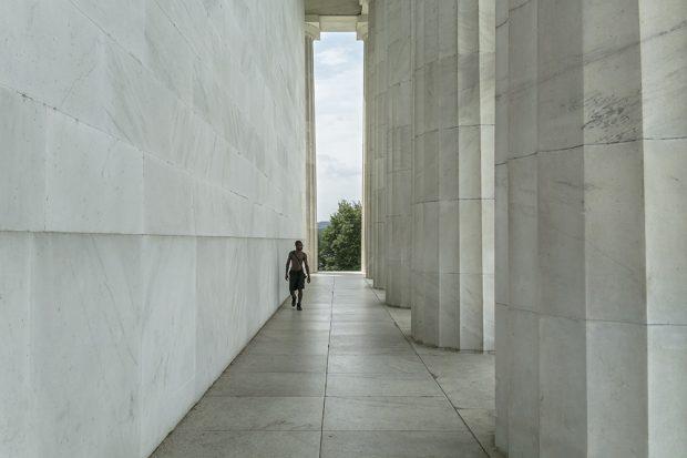 Una vista atípica del Lincoln Memorial en Washington D.C. (Foto: O. Curtis)