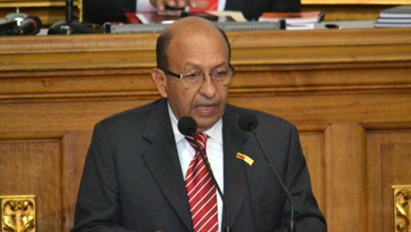 Manuel Galindo, contralor general de Venezuela, en la Asamblea Nacional.