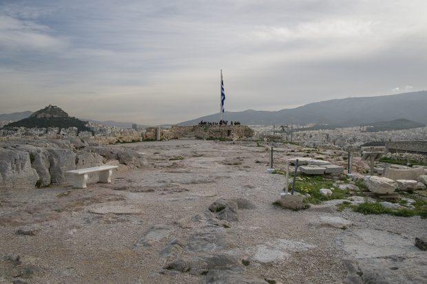 Esto es lo que se ve si das media vuelta delante del Partenón en Atenas. (Foto: O. Curtis)